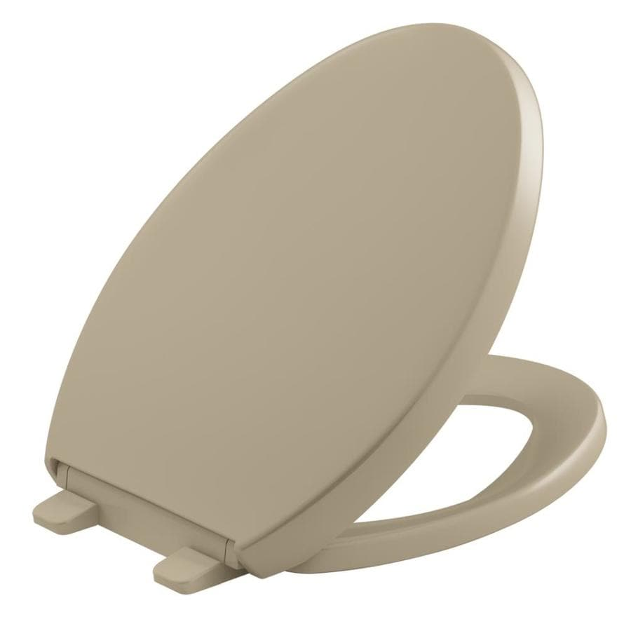 KOHLER Quiet Close Grip-Tight Reveal Q3 Plastic Elongated Slow Close Toilet Seat