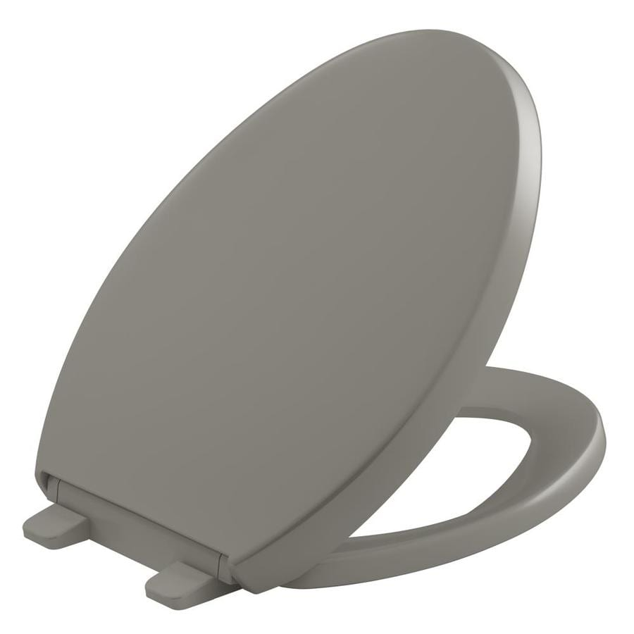 KOHLER Quiet Close Grip-Tight Reveal Q4 Plastic Elongated Slow Close Toilet Seat