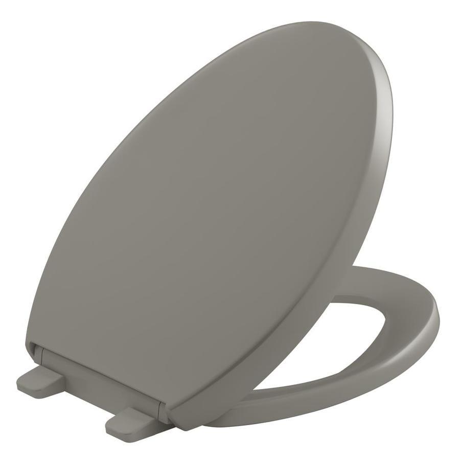 KOHLER Quiet Close Grip-Tight Reveal Q4 Plastic Elongated Slow-Close Toilet Seat
