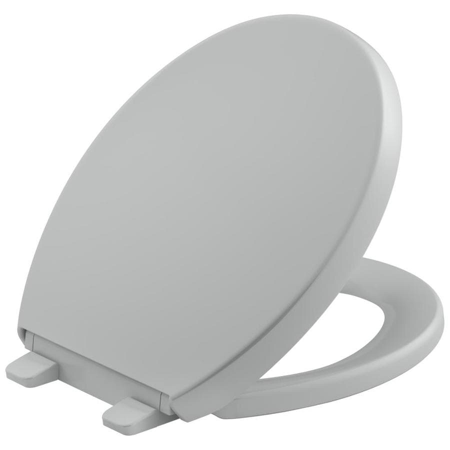 KOHLER Quiet Close Reveal Plastic Round Toilet Seat