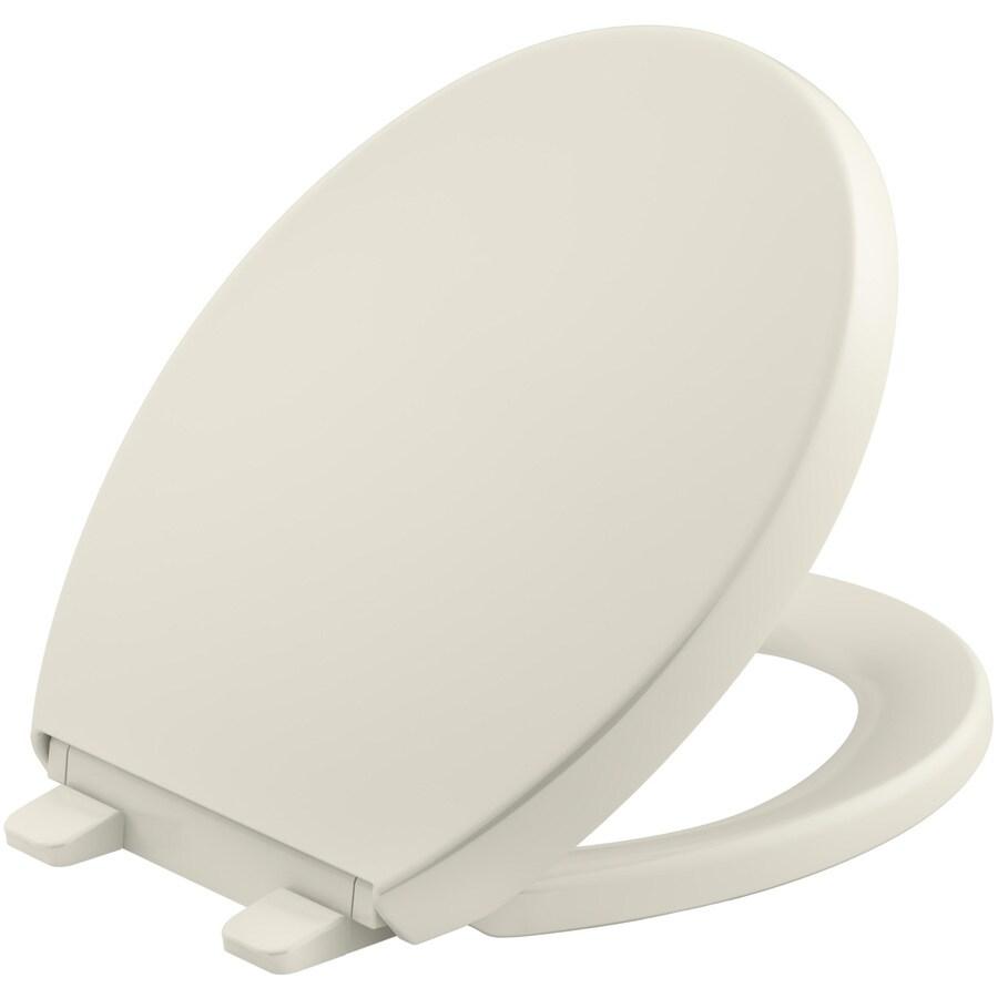 KOHLER Quiet Close Reveal Plastic Round Toilet Seat