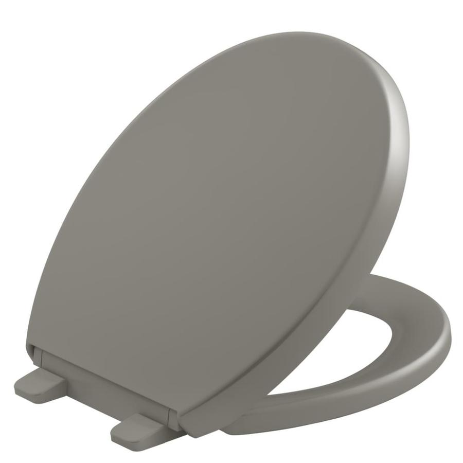 KOHLER Quiet Close Grip-Tight Reveal Q7 Plastic Round Slow Close Toilet Seat