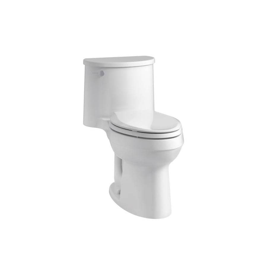 KOHLER Adair White WaterSense Labeled  Elongated Chair Height 1-piece Toilet 12-in Rough-In Size