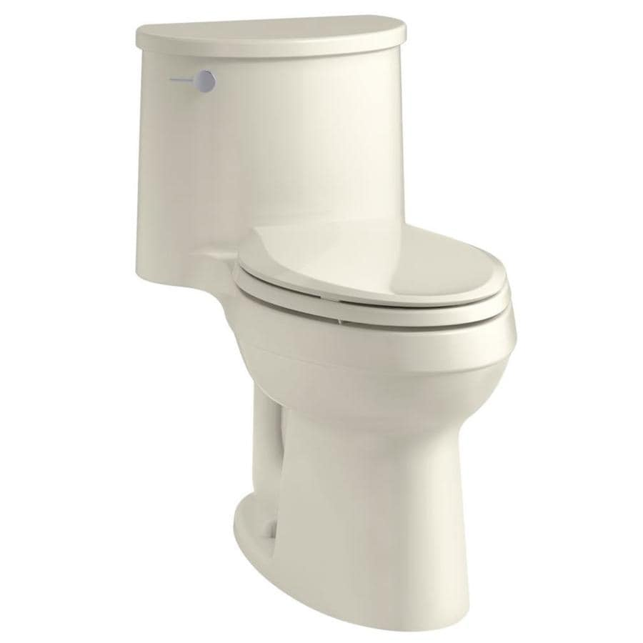 KOHLER Adair 1.28-GPF (4.85-LPF) Biscuit Elongated Chair Height 1-piece Toilet