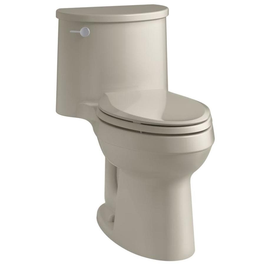 KOHLER Adair 1.28-GPF (4.85-LPF) Sandbar WaterSense Elongated Chair Height 1-Piece Toilet
