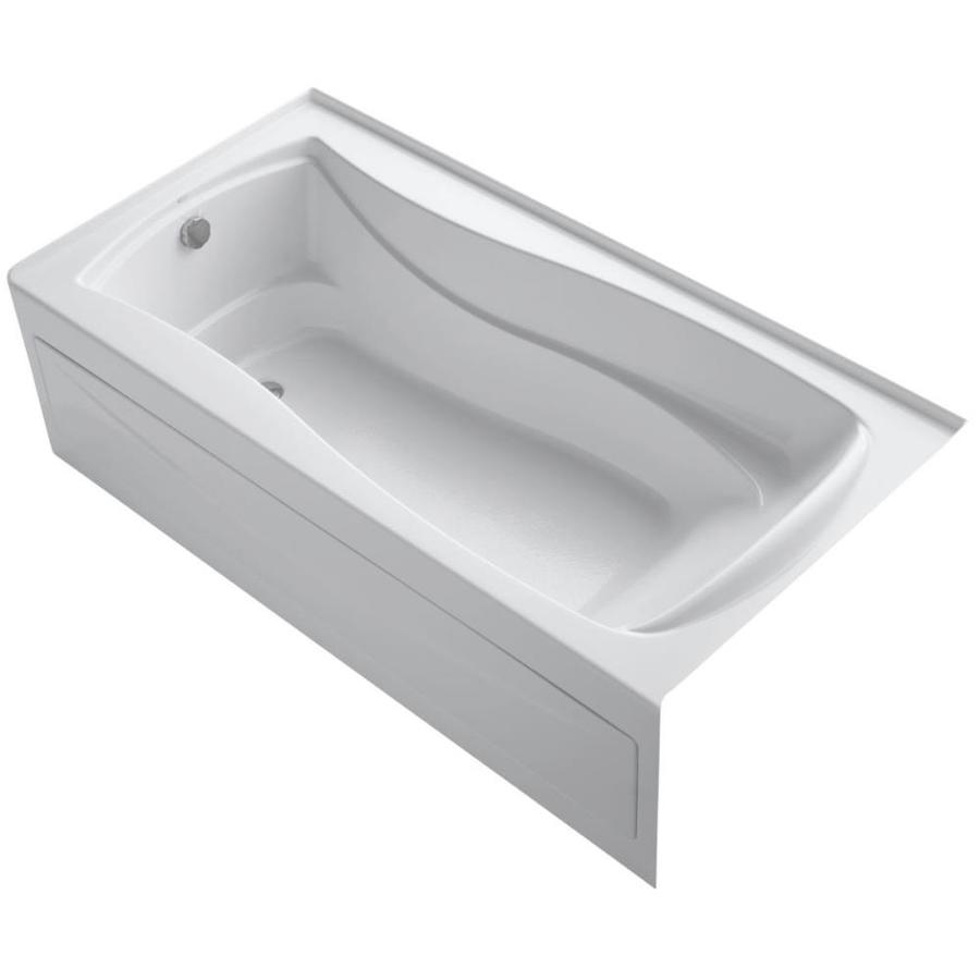 KOHLER Mariposa 72-in White Acrylic Alcove Bathtub with Left-Hand Drain