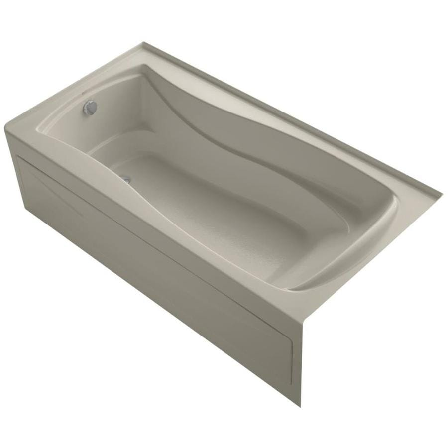 KOHLER Mariposa Sandbar Acrylic Hourglass In Rectangle Alcove Bathtub with Left-Hand Drain (Common: 36-in x 72-in; Actual: 20-in x 36-in x 72-in)