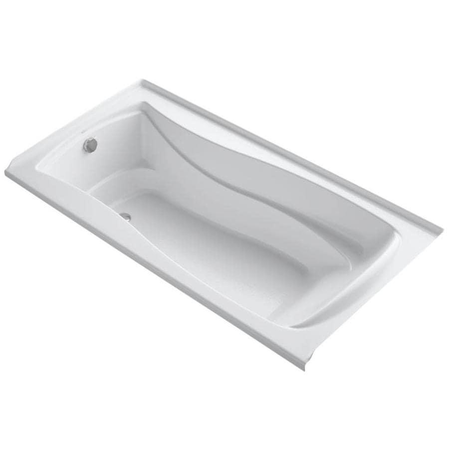 KOHLER Mariposa 72-in White Acrylic Alcove Bathtub with Left-Hand Drain