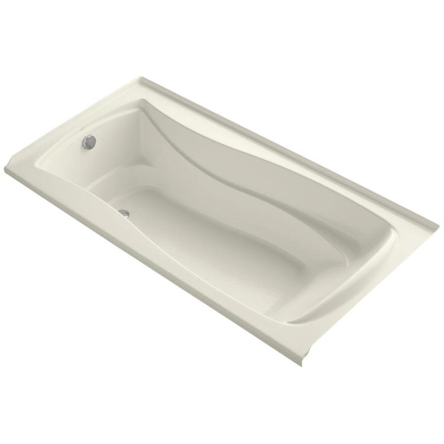KOHLER Mariposa 72-in Biscuit Acrylic Alcove Bathtub with Left-Hand Drain