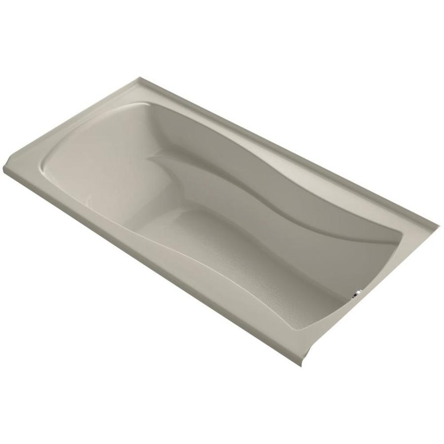 KOHLER Mariposa 72-in Sandbar Acrylic Alcove Bathtub with Right-Hand Drain