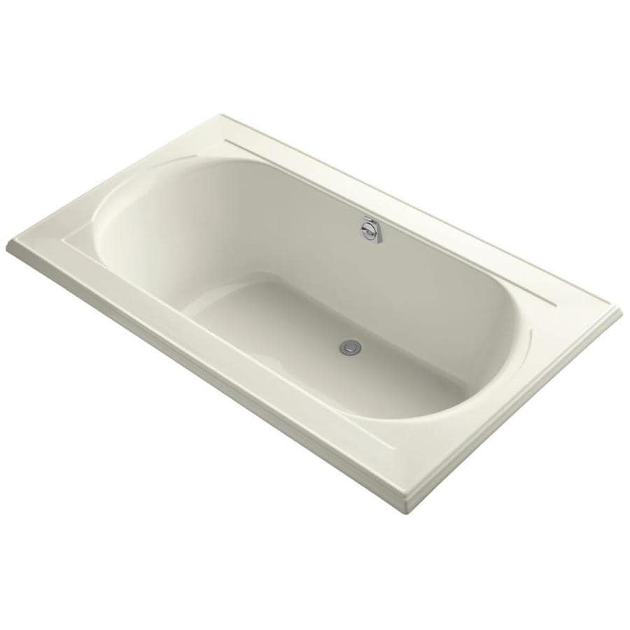KOHLER Memoirs 72-in Biscuit Acrylic Drop-In Bathtub with Reversible Drain