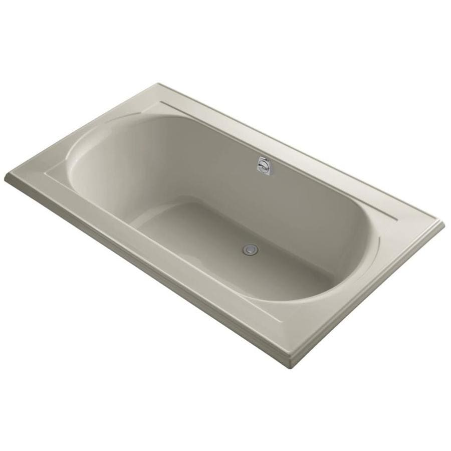 KOHLER Memoirs Sandbar Acrylic Oval In Rectangle Drop-in Bathtub with Reversible Drain (Common: 42-in x 72-in; Actual: 22.0-in x 42.0-in x 72.0-in)