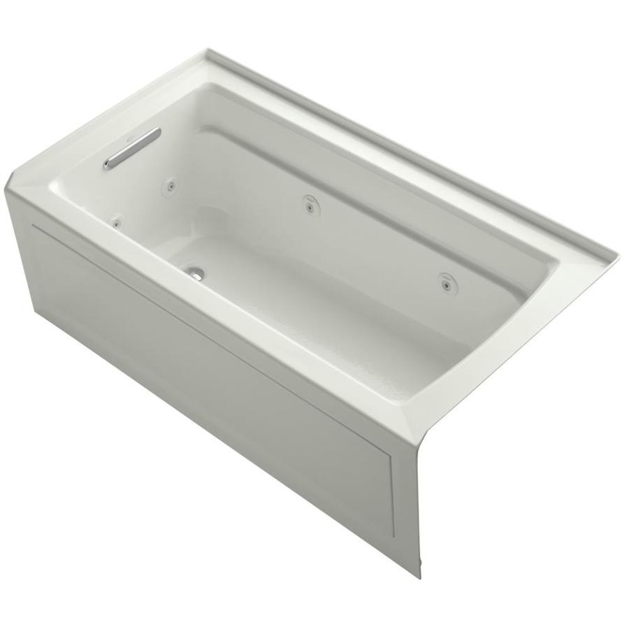 KOHLER Archer Dune Acrylic Rectangular Whirlpool Tub (Common: 32-in x 60-in; Actual: 21.2500-in x 32.0000-in x 60.0000-in)