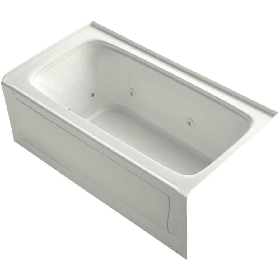 KOHLER Bancroft Dune Acrylic Rectangular Alcove Whirlpool Tub (Common: 32-in x 60-in; Actual: 20-in x 32-in x 60-in)