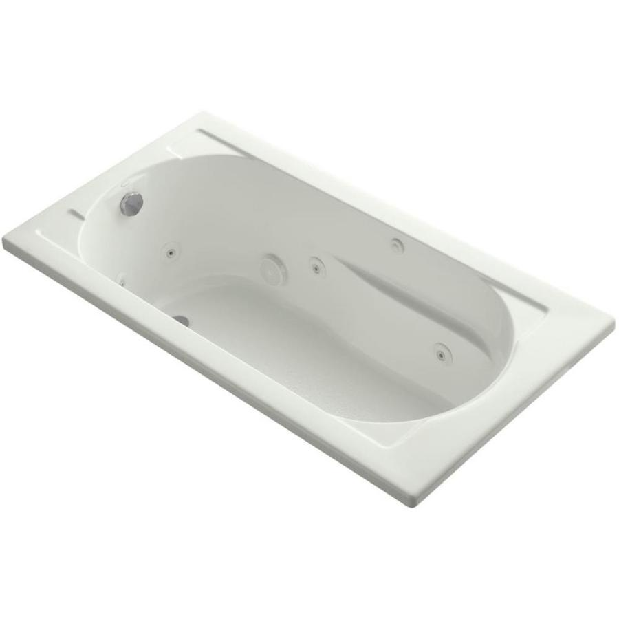 KOHLER Devonshire 60-in Dune Acrylic Drop-In Whirlpool Tub with Reversible Drain