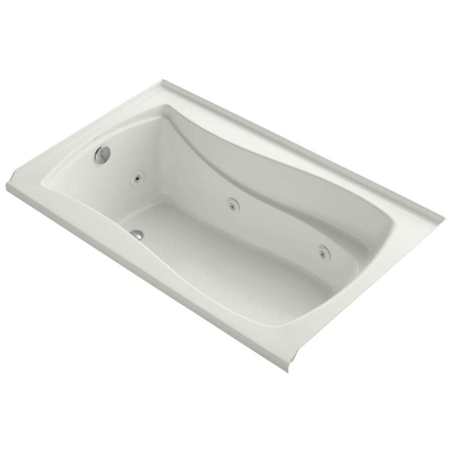 KOHLER Mariposa Dune Acrylic Hourglass In Rectangle Whirlpool Tub (Common: 36-in x 60-in; Actual: 21.25-in x 36-in x 60-in)