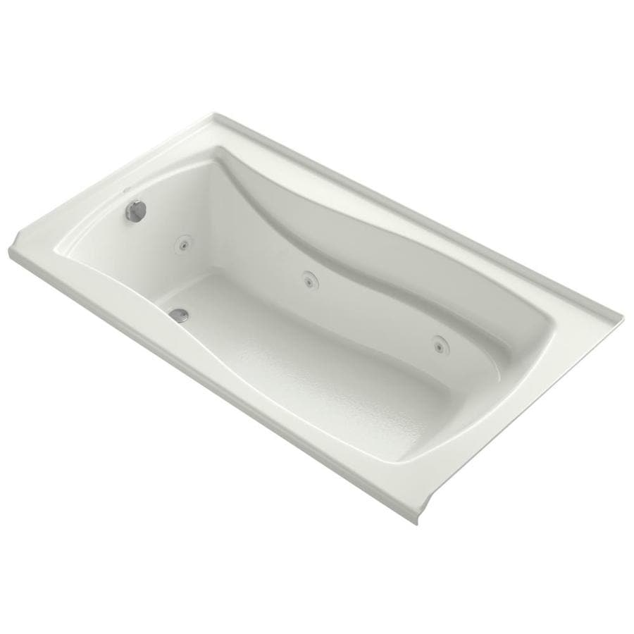 KOHLER Mariposa 60-in Dune Acrylic Alcove Whirlpool Tub with Left-Hand Drain