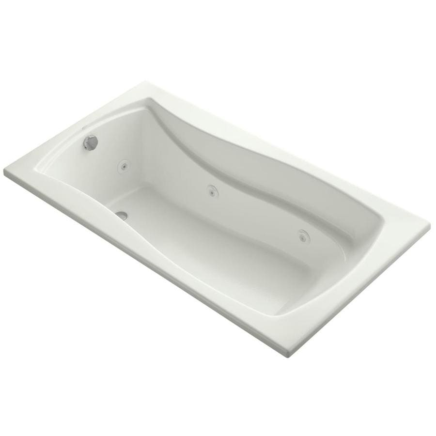 KOHLER Mariposa Dune Acrylic Hourglass In Rectangle Whirlpool Tub (Common: 36-in x 66-in; Actual: 20.0000-in x 36.0000-in x 66.0000-in)