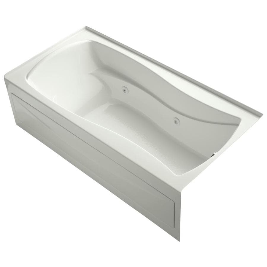 KOHLER Mariposa Dune Acrylic Hourglass In Rectangle Alcove Whirlpool Tub (Common: 36-in x 72-in; Actual: 21.25-in x 36-in)