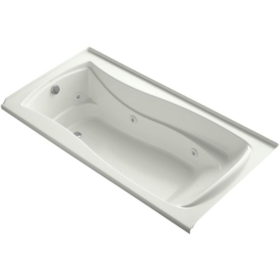 KOHLER Mariposa 72-in Dune Acrylic Alcove Whirlpool Tub with Left-Hand Drain