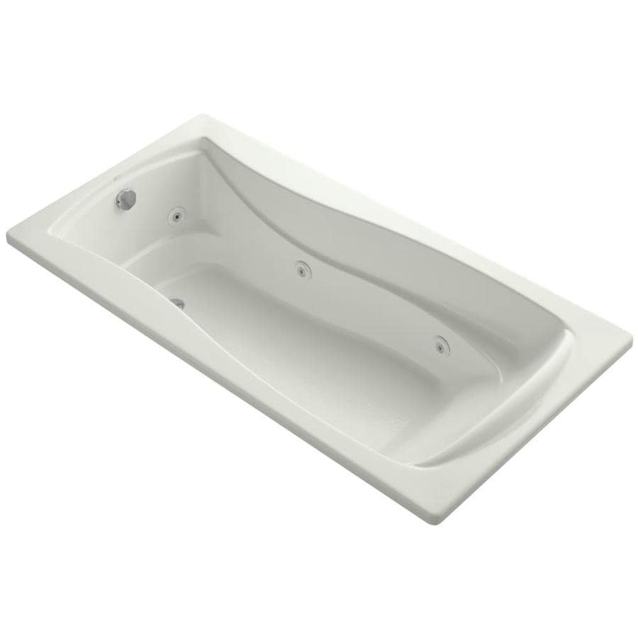 KOHLER Mariposa 72-in Dune Acrylic Drop-In Whirlpool Tub with Reversible Drain