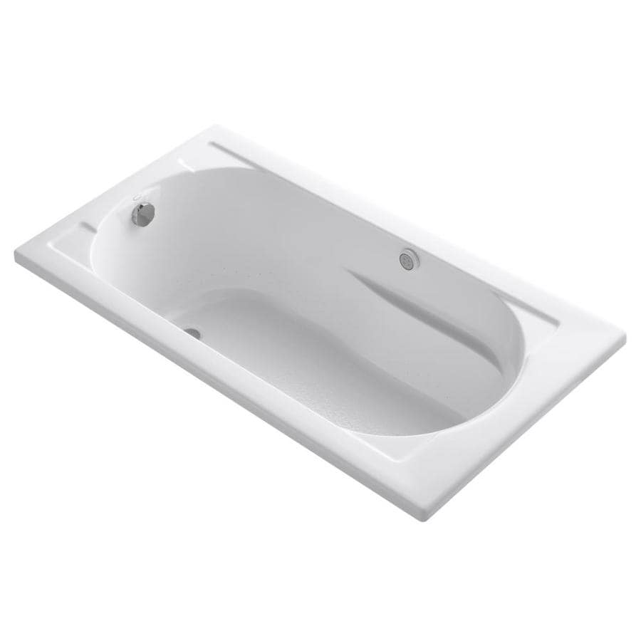 KOHLER Devonshire 60-in L x 32-in W x 20-in H White Acrylic Oval In Rectangle Drop-in Air Bath