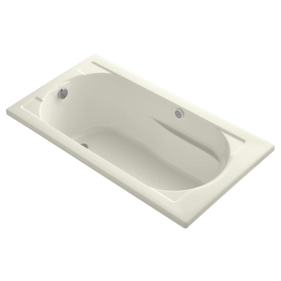 KOHLER Devonshire 60-in L x 32-in W x 20-in H Biscuit Acrylic Oval In Rectangle Drop-in Air Bath