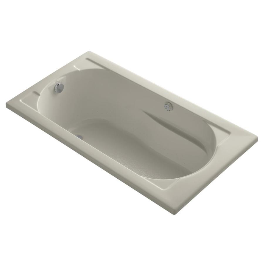 KOHLER Devonshire 60-in L x 32-in W x 20-in H Sandbar Acrylic Oval In Rectangle Drop-in Air Bath