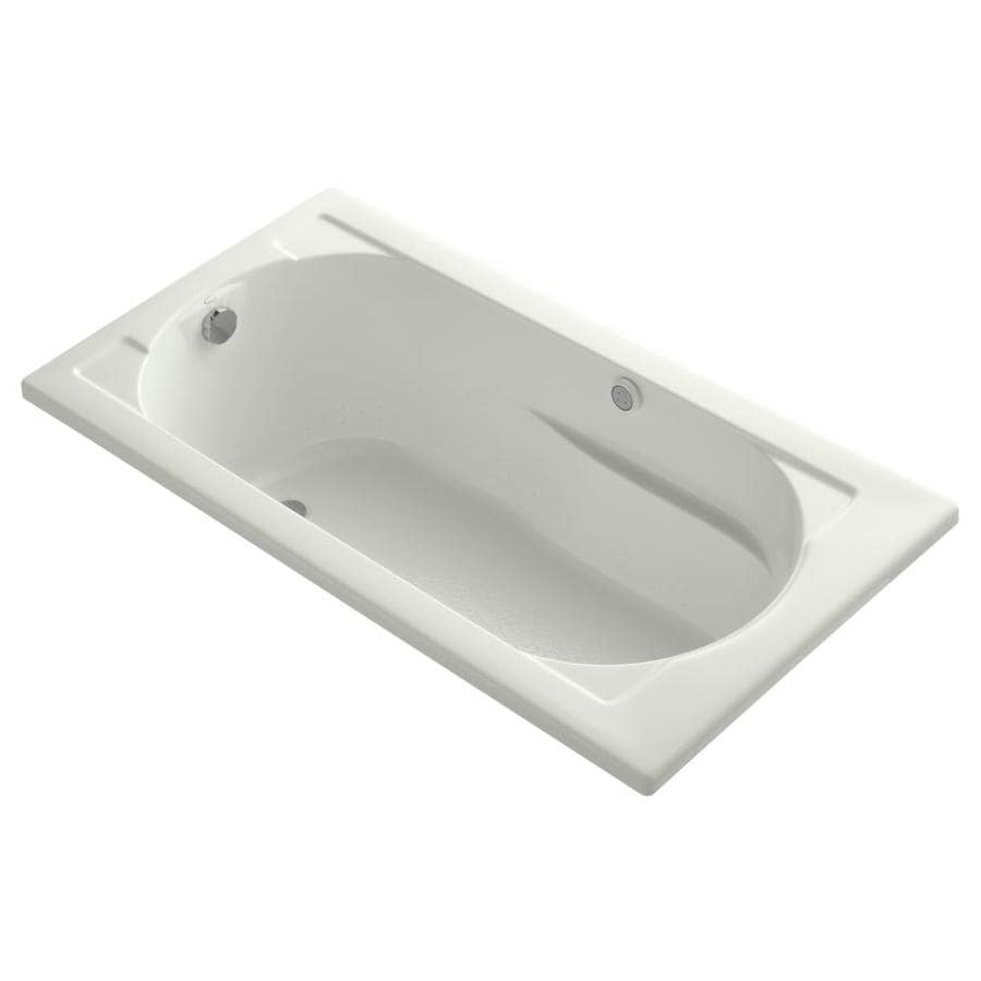 KOHLER Devonshire 60-in Dune Acrylic Drop-In Air Bath with Reversible Drain