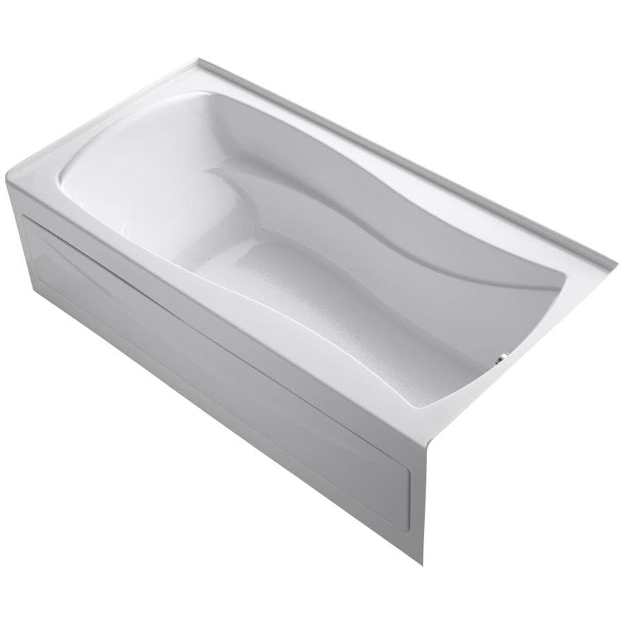 KOHLER Mariposa 72-in L x 36-in W x 20-in H White Acrylic Hourglass In Rectangle Alcove Air Bath