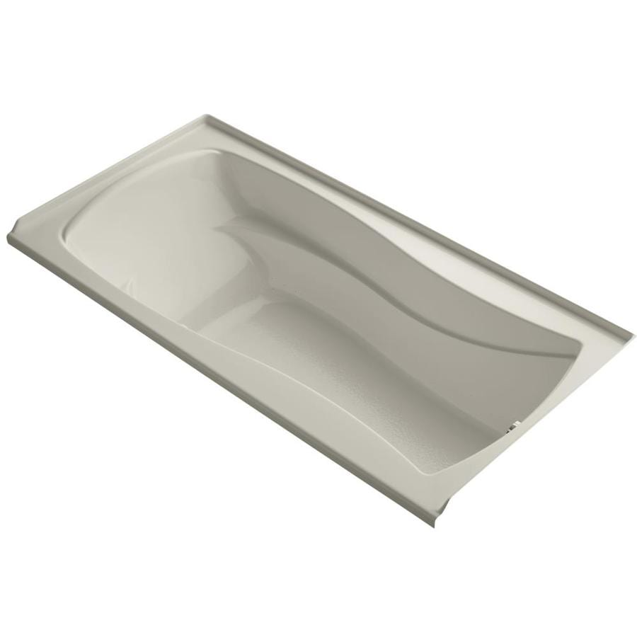 KOHLER Mariposa 72-in L x 36-in W x 20-in H Sandbar Acrylic Hourglass In Rectangle Alcove Air Bath