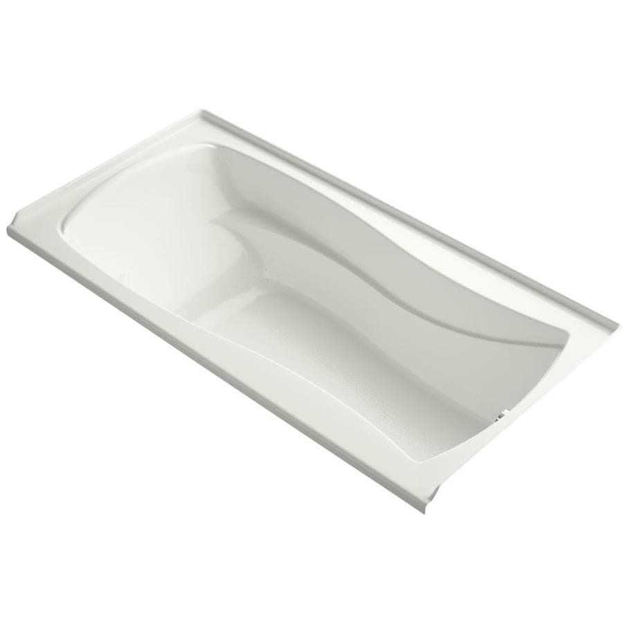 KOHLER Mariposa 72-in Dune Acrylic Alcove Air Bath with Left-Hand Drain