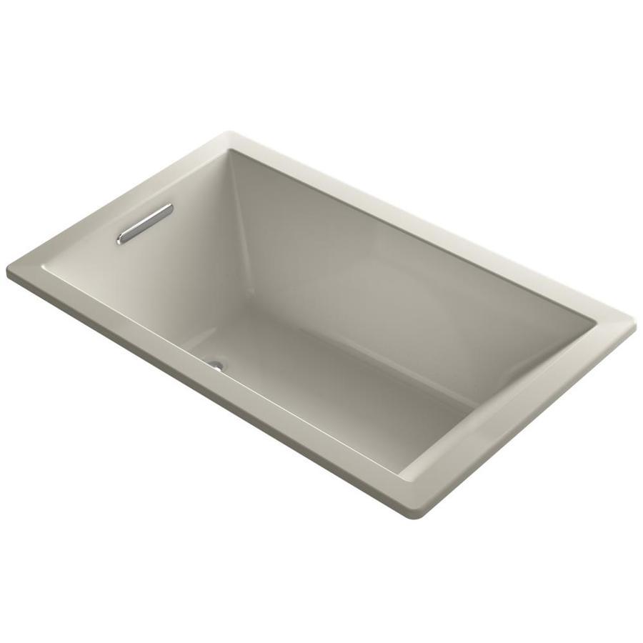 KOHLER Underscore 60-in L x 36-in W x 21-in H Sandbar Acrylic Rectangular Drop-in Air Bath