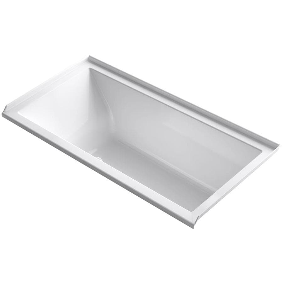 KOHLER Underscore 60-in White Acrylic Drop-In Air Bath with Right-Hand Drain