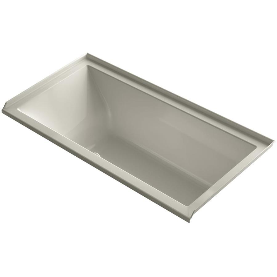 KOHLER Underscore 60-in Sandbar Acrylic Drop-In Air Bath with Right-Hand Drain
