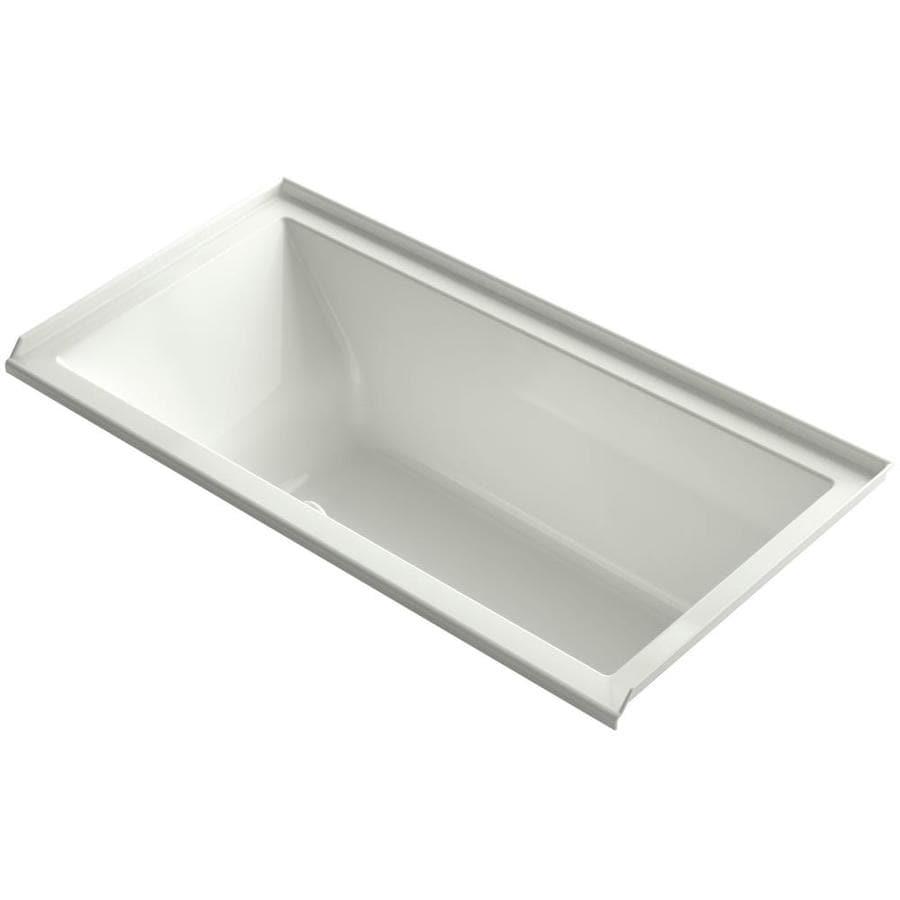 KOHLER Underscore 60-in L x 30-in W x 19-in H Dune Acrylic Rectangular Drop-in Air Bath