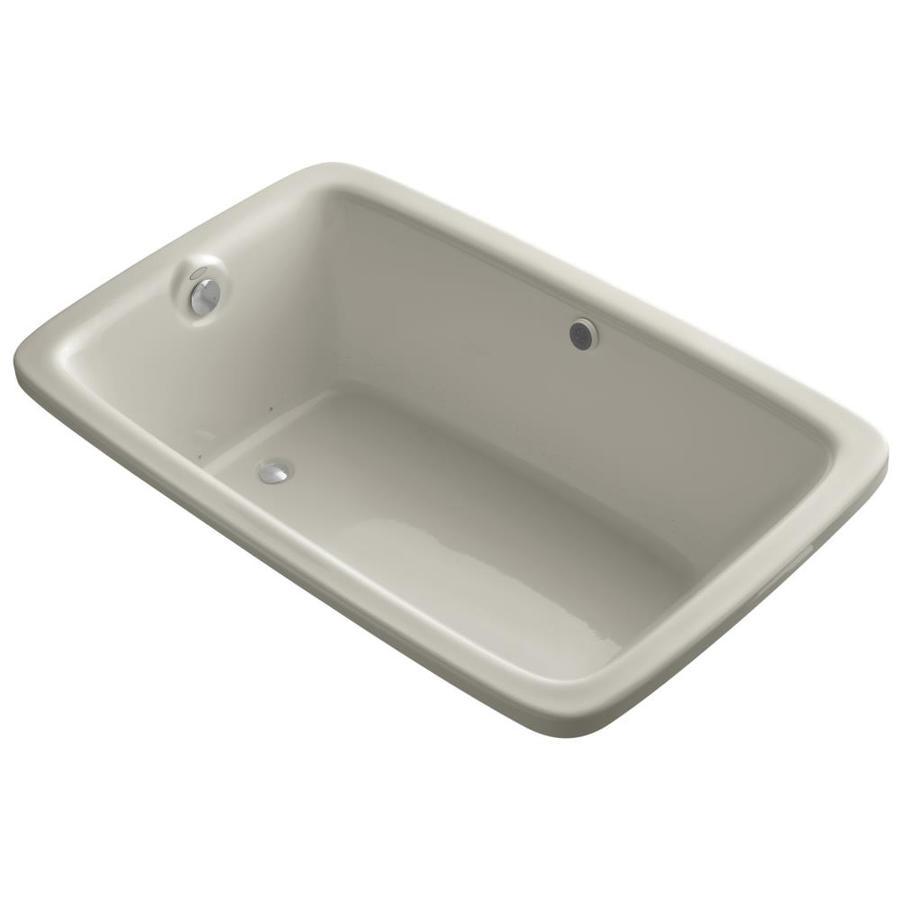 KOHLER Bancroft 66-in L x 42-in W x 22-in H Sandbar Acrylic Rectangular Drop-in Air Bath