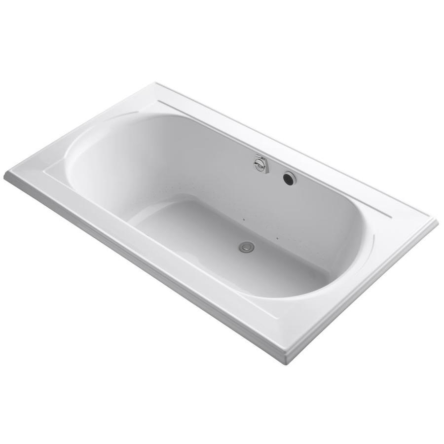 KOHLER Memoirs 72-in L x 42-in W x 22-in H White Acrylic Oval In Rectangle Drop-in Air Bath