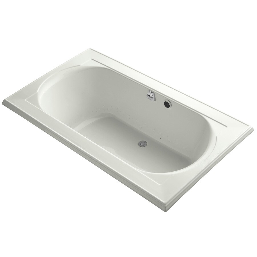 KOHLER Memoirs 72-in Dune Acrylic Drop-In Air Bath with Front Center Drain