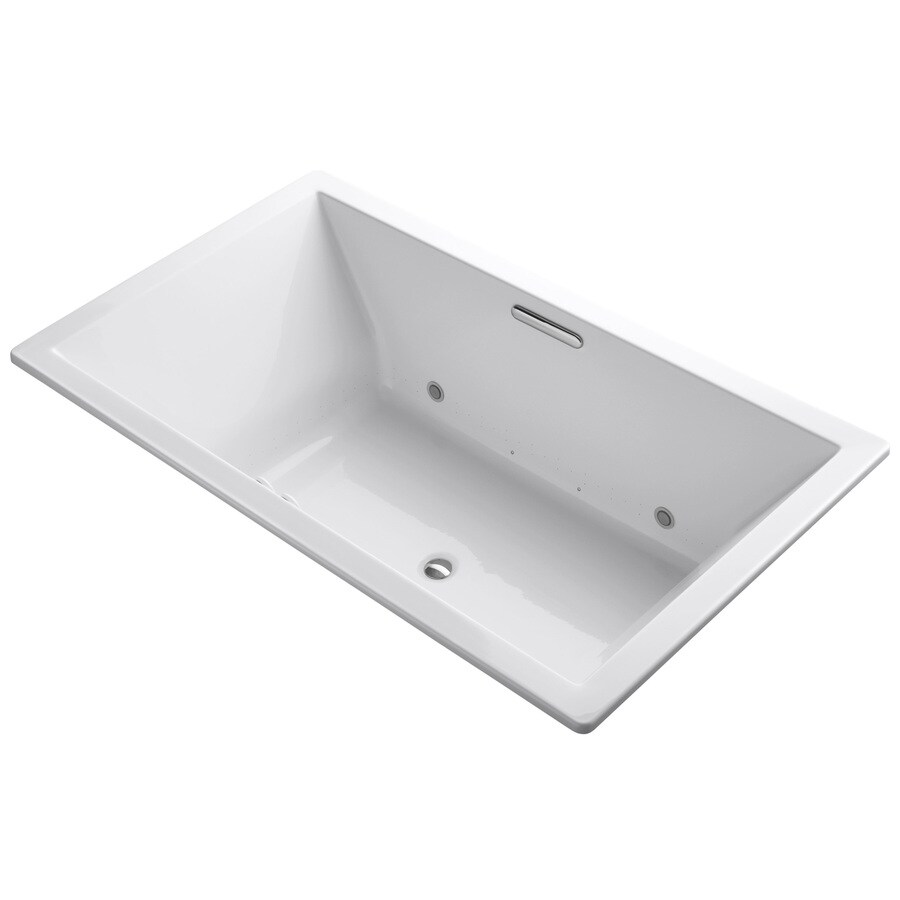 KOHLER Underscore 72-in L x 42-in W x 23-in H White Acrylic Rectangular Drop-in Air Bath