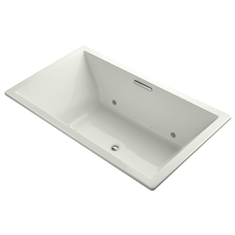 KOHLER Underscore 72-in Dune Acrylic Drop-In Air Bath with Front Center Drain