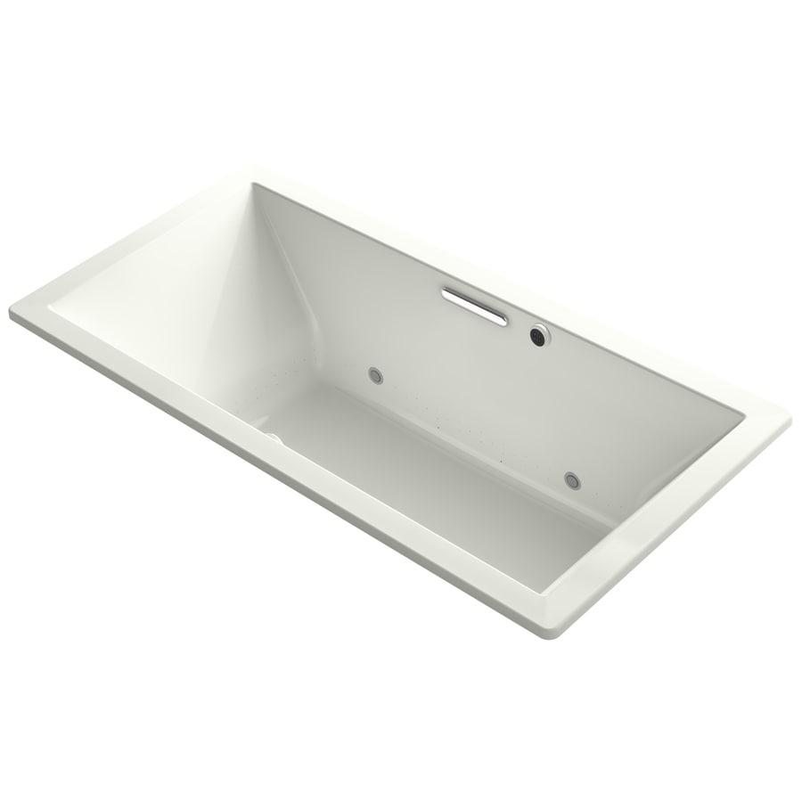KOHLER Underscore 72-in L x 36-in W x 23-in H Dune Acrylic Rectangular Drop-in Air Bath