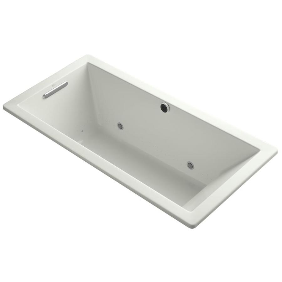 KOHLER Underscore 66-in L x 32-in W x 22-in H Dune Acrylic Rectangular Drop-in Air Bath