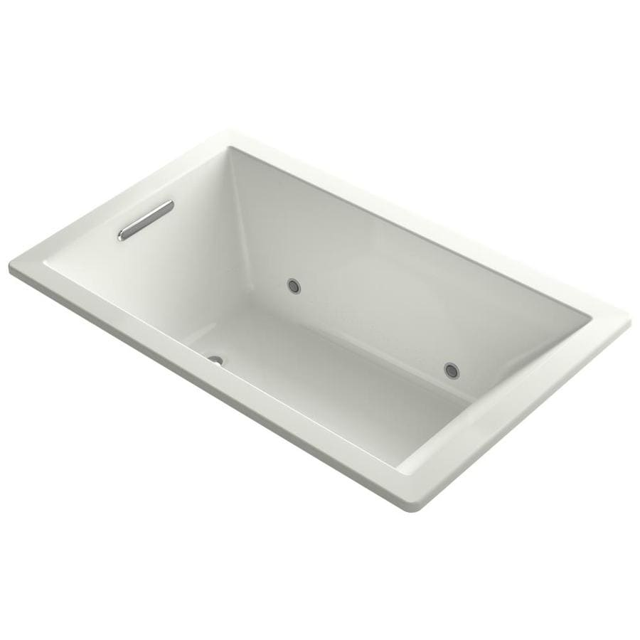 KOHLER Underscore 60-in L x 36-in W x 21-in H Dune Acrylic Rectangular Drop-in Air Bath