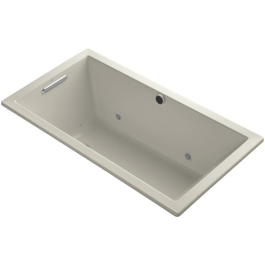 KOHLER Underscore 60.0000-in L x 32.0000-in W x 21.0000-in H Sandbar Acrylic Rectangular Drop-in Air Bath