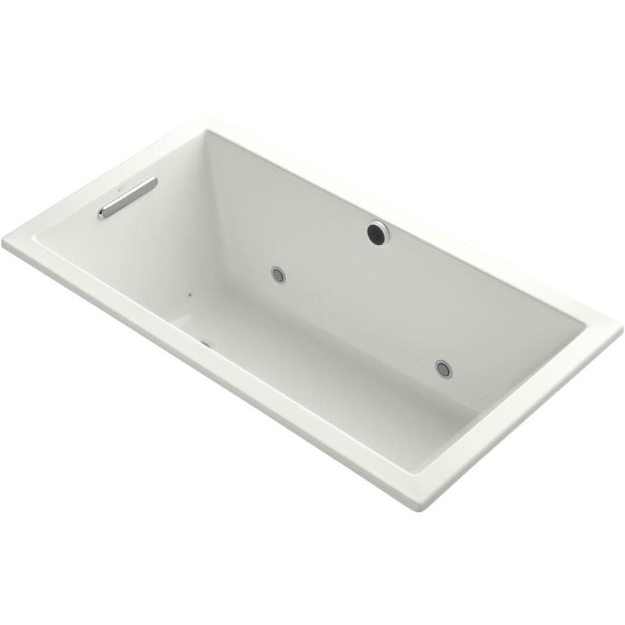 KOHLER Underscore 60-in L x 32-in W x 21-in H Dune Acrylic Rectangular Drop-in Air Bath