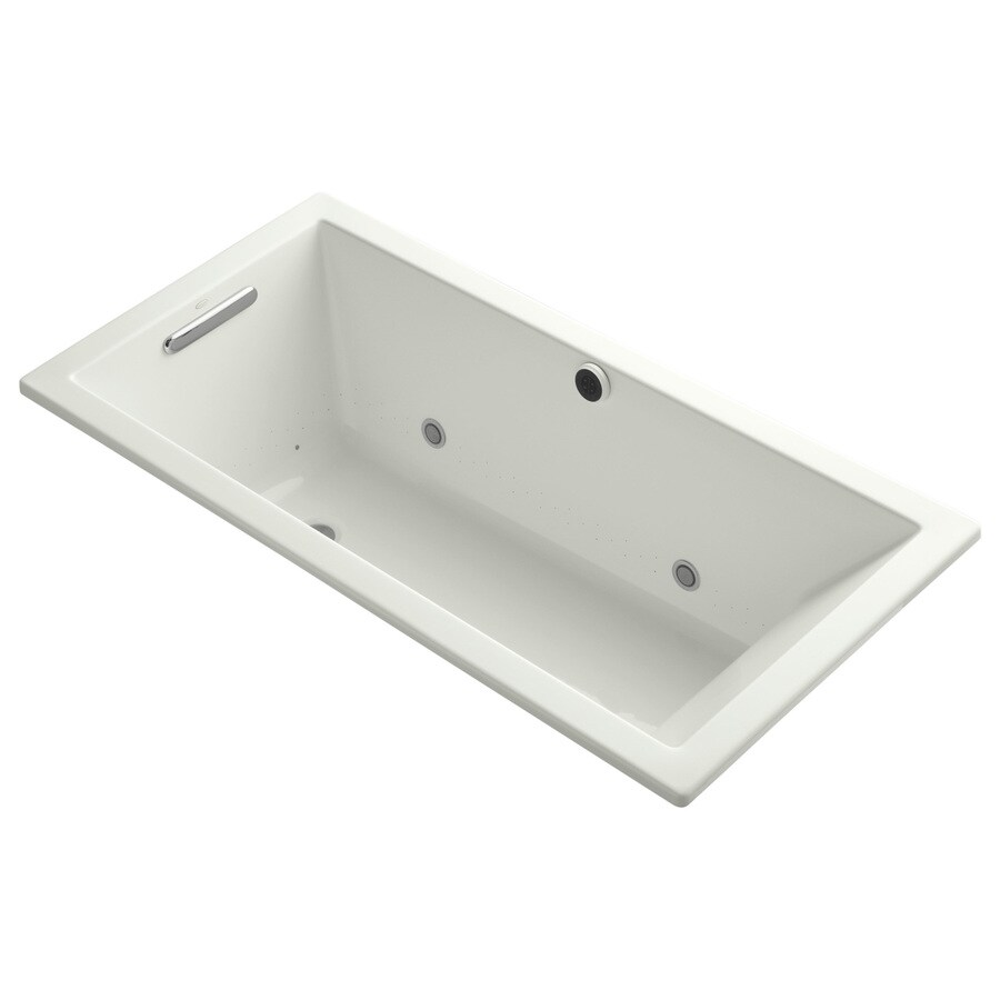 KOHLER Underscore 60-in L x 30-in W x 19-in H Dune Acrylic Rectangular Drop-in Air Bath