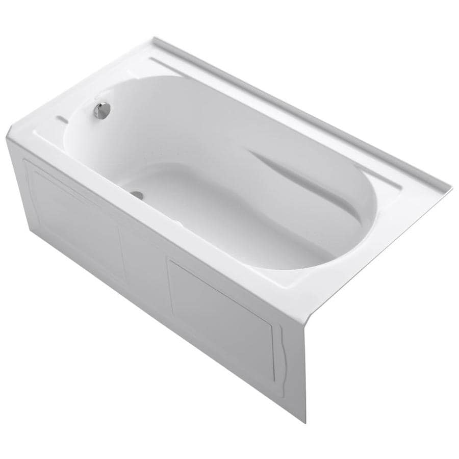 KOHLER Devonshire 60-in White Acrylic Alcove Air Bath with Left-Hand Drain