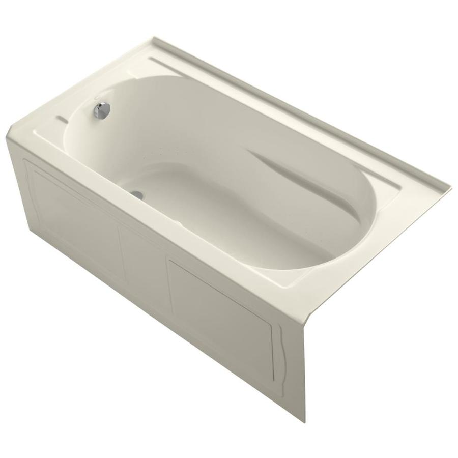 KOHLER Devonshire 60-in L x 32-in W x 21.25-in H Almond Acrylic Oval In Rectangle Alcove Air Bath