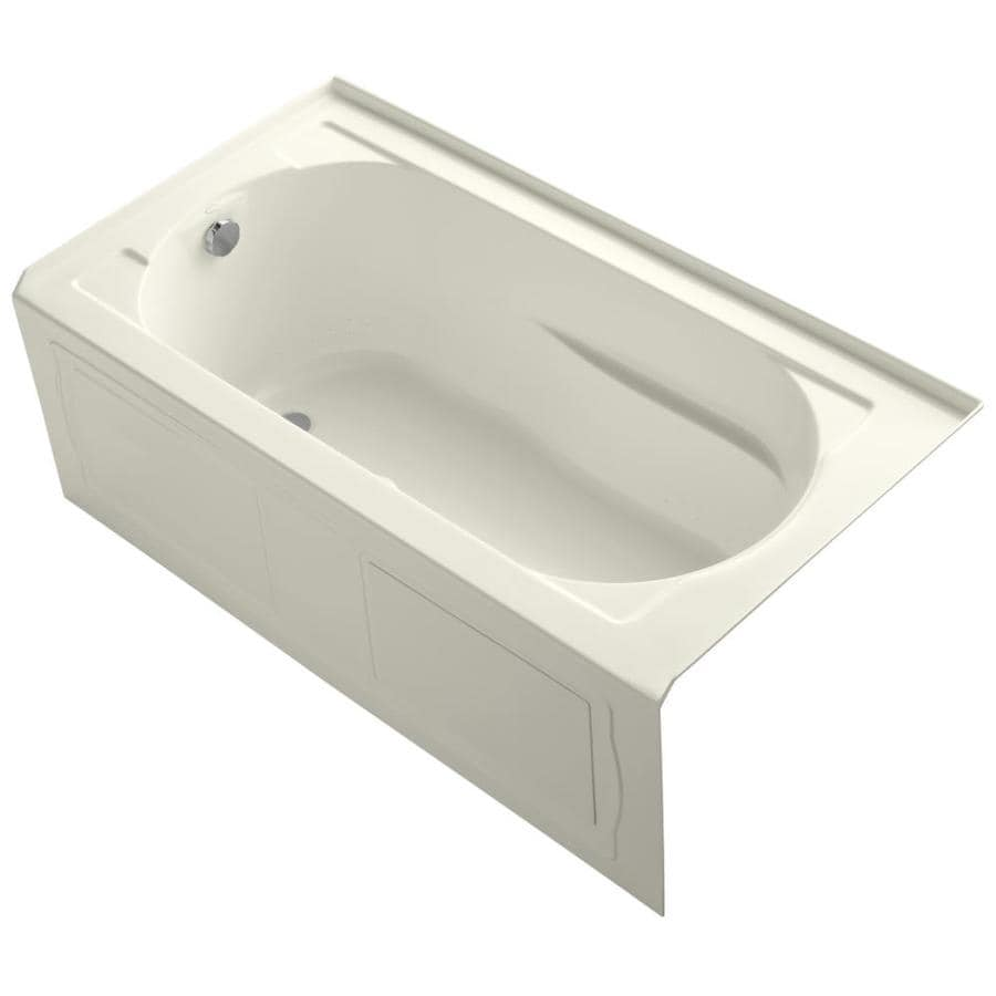 KOHLER Devonshire 60-in Biscuit Acrylic Alcove Air Bath with Left-Hand Drain